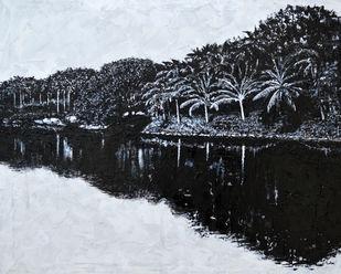 Infinity by Usha Shantharam, Impressionism Painting, Acrylic on Canvas, Gray color