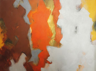 Untitled-II by Viraj Jaulkar, Abstract Painting, Acrylic on Canvas, Brown color