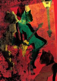 002 by Atharwa Deshingkar, Digital Digital Art, Digital Print on Archival Paper, Brown color