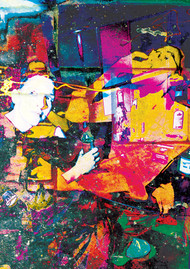 003 by Atharwa Deshingkar, Digital Digital Art, Digital Print on Archival Paper, Brown color