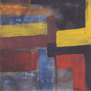Mother Earth 4 by Karan Meral, Abstract Painting, Acrylic on Canvas, Brown color