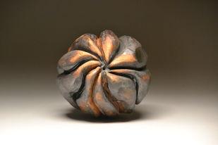 Urchin by Meenakshi Garodia, Art Deco Sculpture | 3D, Ceramic, Brown color