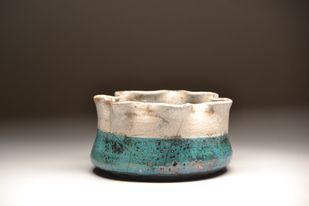 Peace- Raku fired by Meenakshi Garodia, Art Deco Sculpture   3D, Ceramic, Brown color