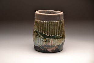 Una Paloma Blanca- Raku Fired by Meenakshi Garodia, Art Deco Sculpture   3D, Ceramic, Brown color