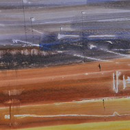 Chandana kankaria solitude 9.5x20 watercolour on paper 2015 26000