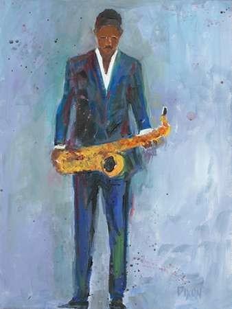 Sax in a Blue Suit Digital Print by Dixon, Samuel,Decorative
