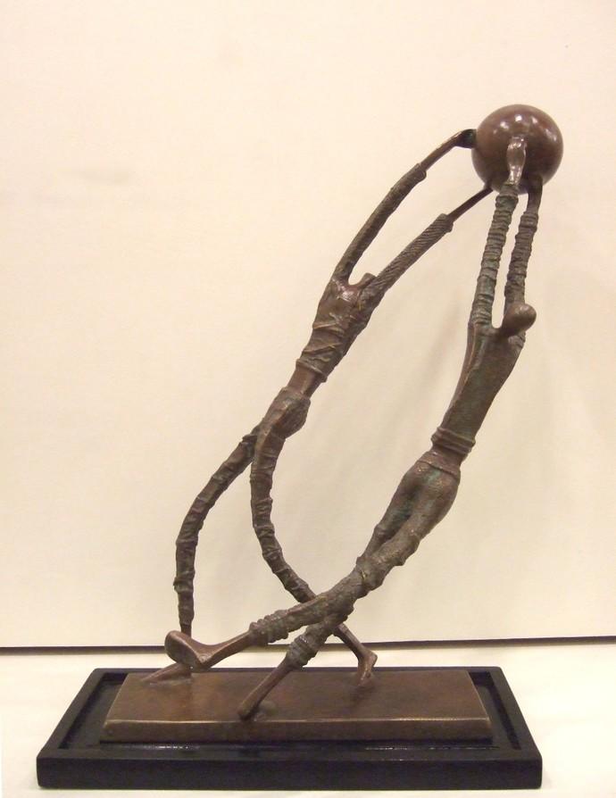 Untitled by Ankit Patel, Art Deco Sculpture   3D, Bronze, Beige color