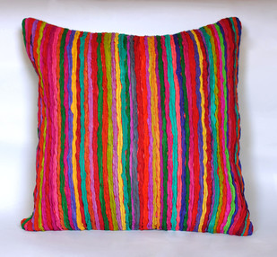 Katran Cushion : Straight Line Pattern : Multicolor Cushion Cover By Sahil & Sarthak