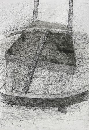 Chair_2 by Swapnali M, Illustration Drawing, Ink on Paper,