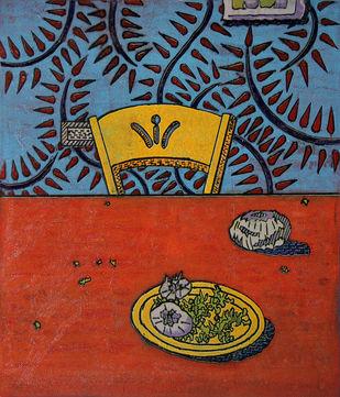 I NEED A KNIFE by Tapan Madkikar, Pop Art Printmaking, Sunboard cut print on Paper, Brown color