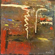 untitled by Shreya Shailee, Abstract Painting, Acrylic on Board, Brown color