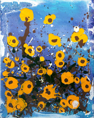 Warmth on a Blue Day by Priyadarshini Ohol, Expressionism Painting, Acrylic on Canvas, Brown color