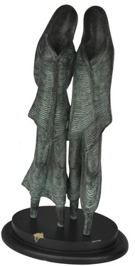 Untitled by N.S. Rana, Art Deco Sculpture   3D, Bronze, Gray color