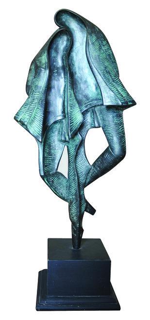 couple by N.S. Rana, Art Deco Sculpture | 3D, Bronze, White color
