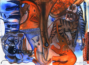 my search and stimulus Digital Print by selva senthil kumar,Expressionism