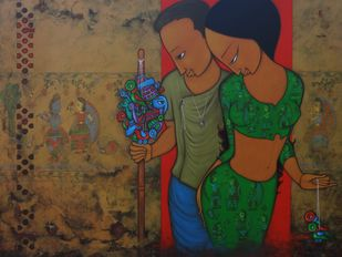 STREET ART Digital Print by H S BHATI,Expressionism