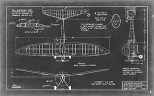 Aeronautic Blueprint VI Digital Print by Vision Studio,Geometrical