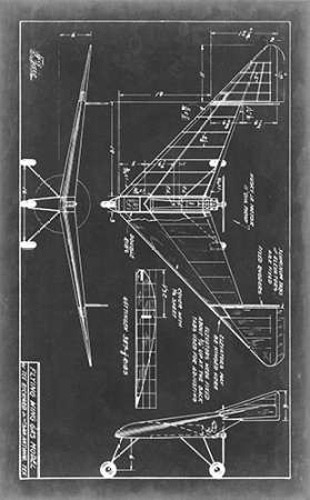 Aeronautic Blueprint V Digital Print by Vision Studio,Geometrical