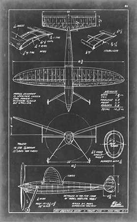 Aeronautic Blueprint III Digital Print by Vision Studio,Geometrical