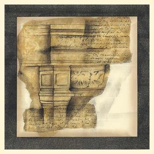 Antique Capitals III Digital Print by Goldberger, Jennifer,Art Deco