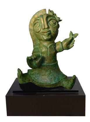 phoolkumari by Atish Mukherjee, Art Deco Sculpture | 3D, Bronze, White color