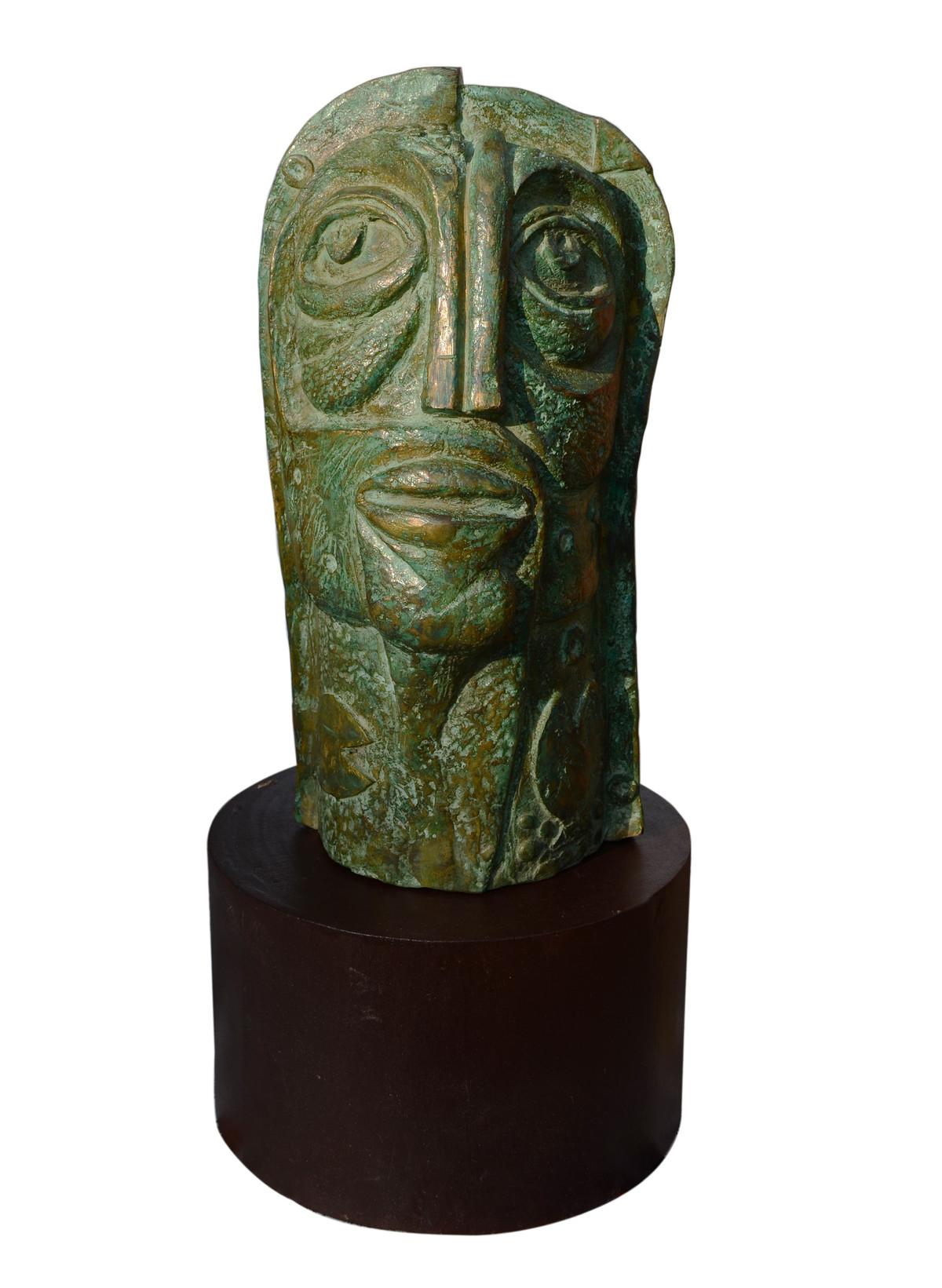 nature 02 by Atish Mukherjee, Art Deco Sculpture | 3D, Bronze, White color