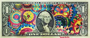 REAL 1 DOLLAR ART SERIES 1.0 by Sanuj Birla, Pop Art Digital Art, Mixed Media, Beige color