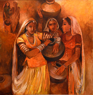 Untitled by Annu Naik, Traditional Serigraph, Serigraph on Paper, Brown color