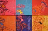 Kolkata Kaleidoscope Digital Print by Anukta Mukherjee Ghosh,Pop Art