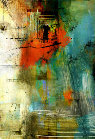 lifes journey 2 by Gopal Mehan, Abstract Painting, Acrylic on Canvas, Green color