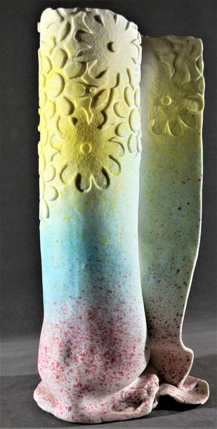 ABUNDANCE 2 by Usha Garodia, Art Deco Sculpture | 3D, Ceramic, Gray color