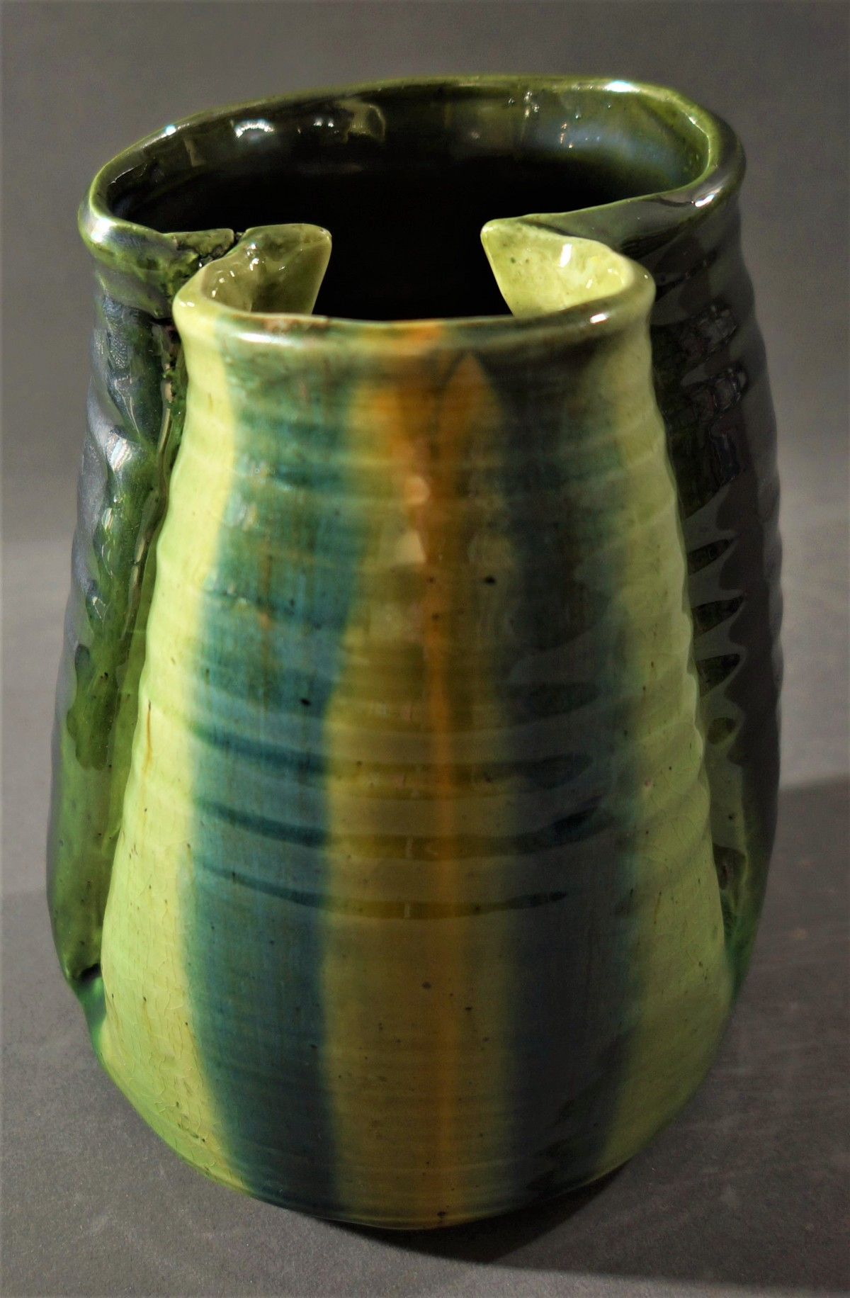 I AM YOU REFLECTION by Usha Garodia, Art Deco Sculpture   3D, Ceramic, Green color