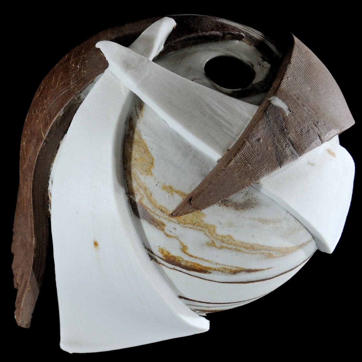 SYMPHONY by Usha Garodia, Art Deco Sculpture | 3D, Ceramic, Gray color