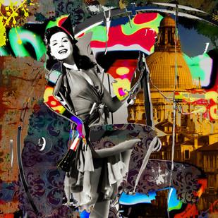 BALLET EXPLOSION 1.0 by Sanuj Birla, Digital Digital Art, Digital Print on Canvas, Brown color