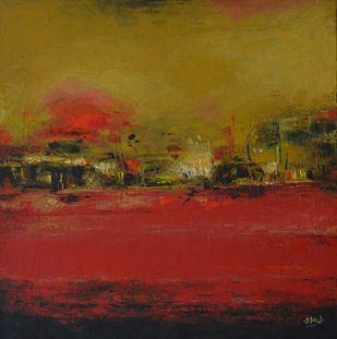Abstract - 10 by Atul Virkar, Abstract Painting, Oil on Canvas, Brown color