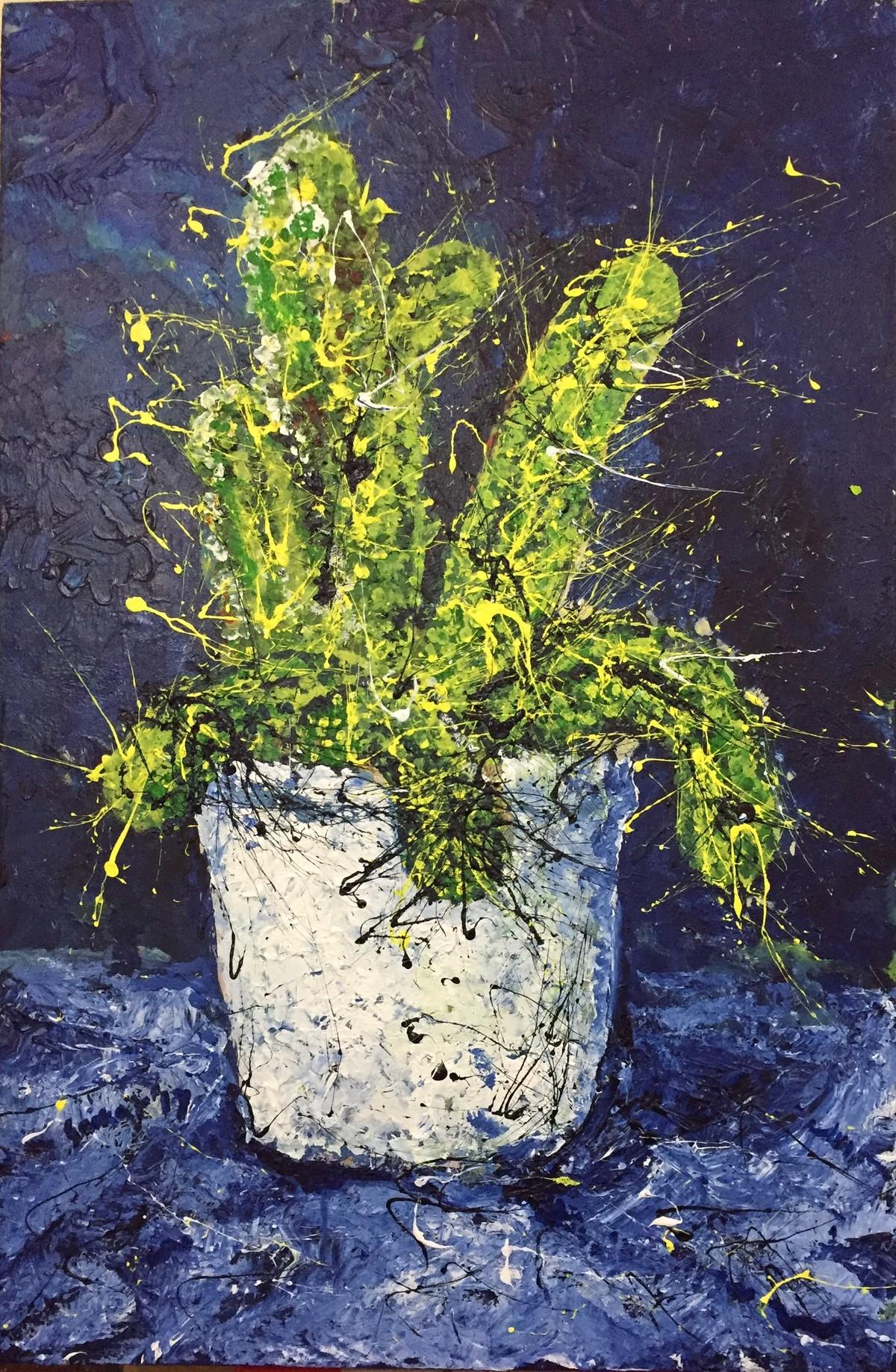 cactus Digital Print by Saikat Chakraborty,Impressionism