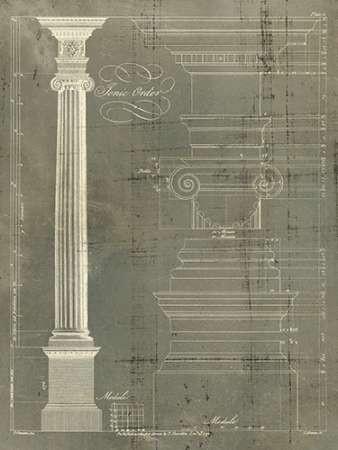 Column Blueprint II Digital Print by Sheraton, Thomas,Decorative