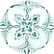 Aqua Medallions VI Digital Print by Vess, June Erica,Decorative