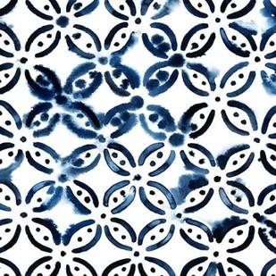 Cobalt Watercolor Tiles I Digital Print by Popp, Grace,Art Deco