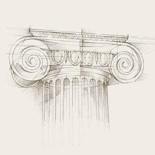 Column Schematic III Digital Print by Harper, Ethan,Illustration