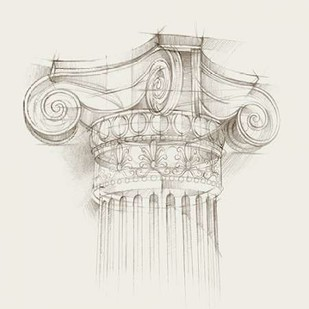 Column Schematic II Digital Print by Harper, Ethan,Illustration