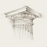 Column Schematic I Digital Print by Harper, Ethan,Illustration