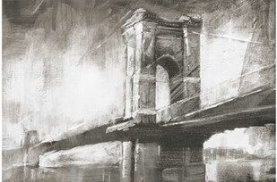 Historic Suspension Bridge I Digital Print by Harper, Ethan,Illustration