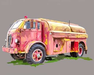 Painterly Firetruck Digital Print by Kalina, Emily,Art Deco