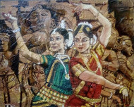 Dancers Digital Print by Sreenivasa Ram Makineedi,Photorealism
