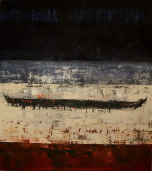 Kochi - I by Pratap SJB Rana, Expressionism Painting, Acrylic on Canvas, Brown color