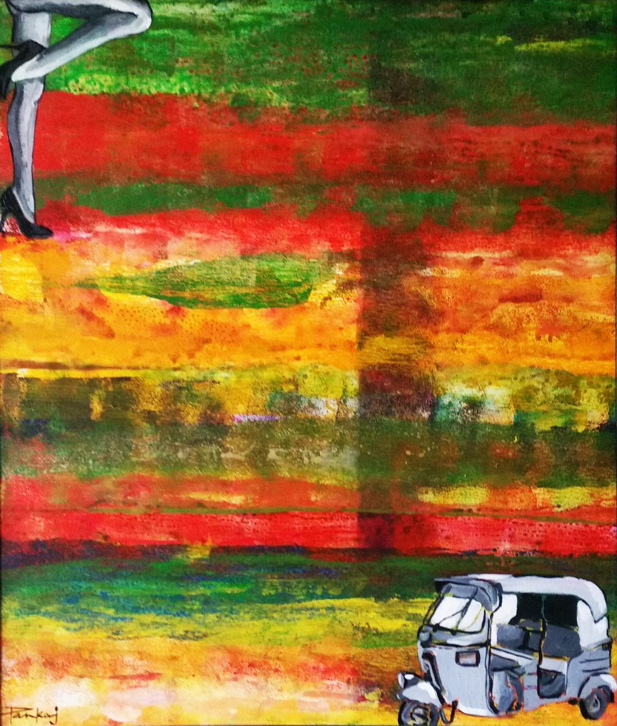 The Meeting Digital Print by Pankaj Kumar Saxena,Abstract