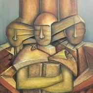 Niku guleria trinity oil on canvas 90x120cms