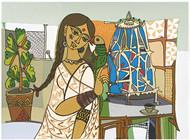 Totaramjee by Jyoti Bhatt, Expressionism Printmaking, Serigraph on Paper, Beige color