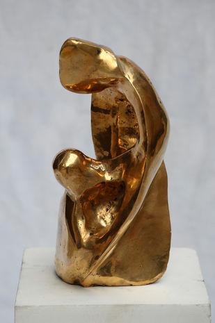 Love by Gurmeet Goldie, Art Deco Sculpture   3D, Bronze, Gray color